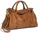 Dooney & Bourke Florentine Leather Satchel Natural