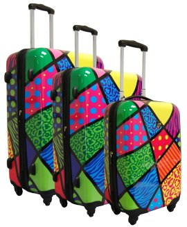Pop Collage Luggage Set